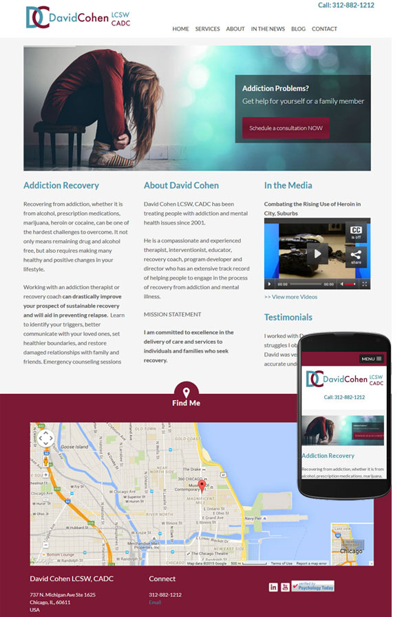 responsive wordpress website chicago