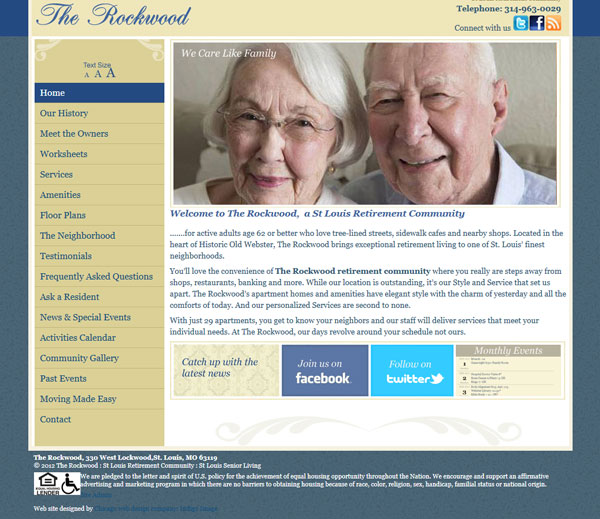 wordpress website the rockwood