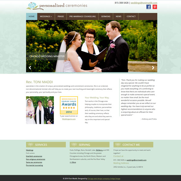 wordpress website toni maddi