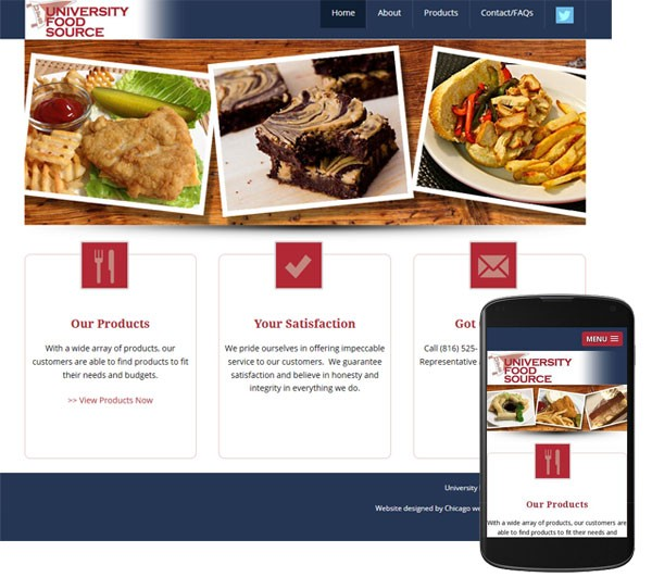 wordpress website university food source