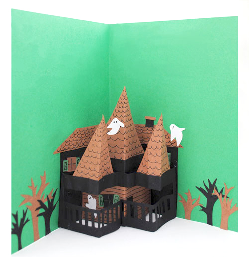 Pop Up Haunted House Card