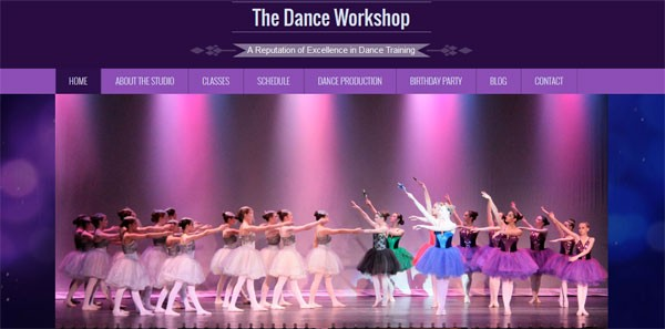 dance company web site