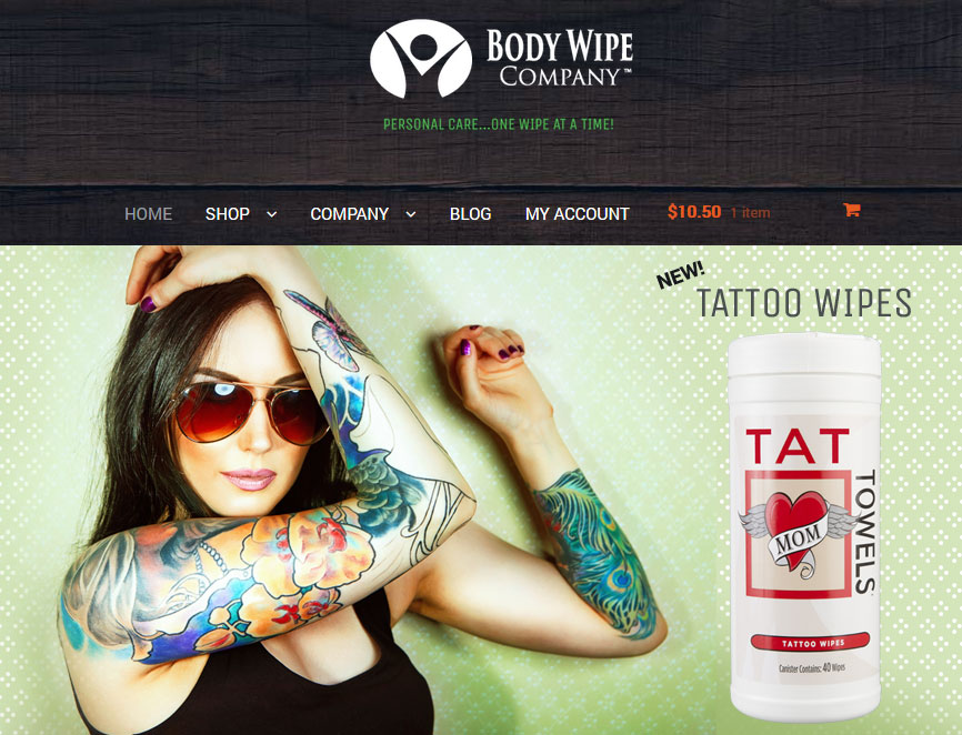 body wipe company website