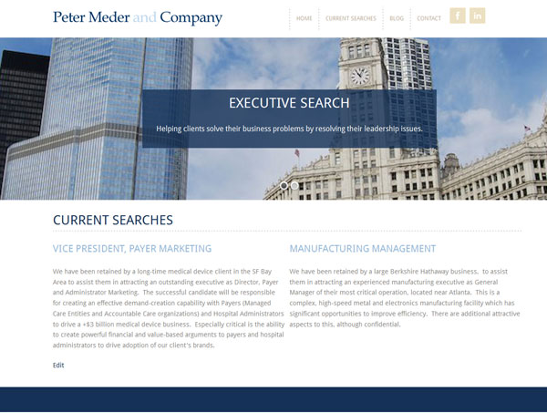 new website for chicago headhunter