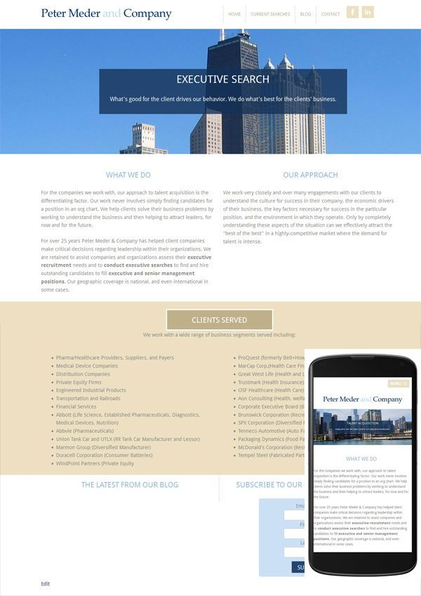 wordpress website chicago headhunter
