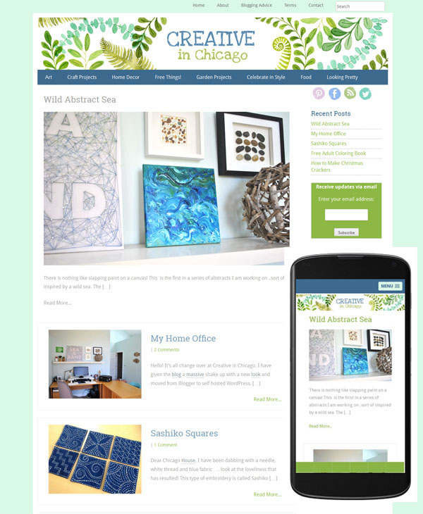 creative in chicago wordpress web site mobile friendly