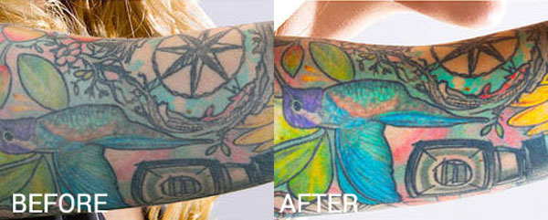 before after tattoo wipe