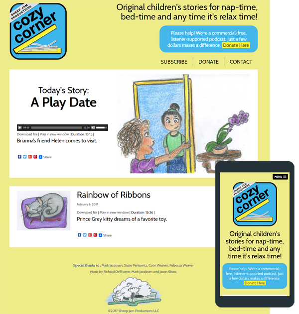 cozy corner podcast website