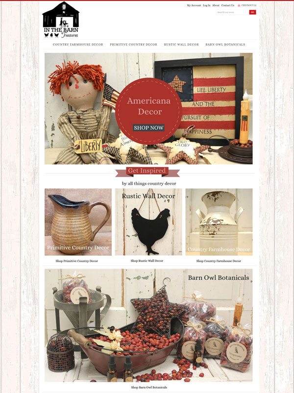 in the barn country decor website