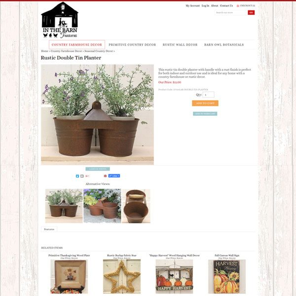 in the barn treasures country decor product