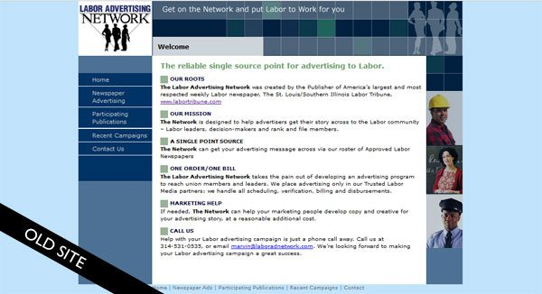 labor ad network old site