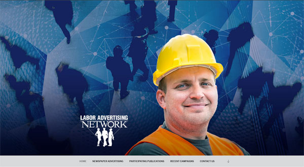 labor ad network wordpress website