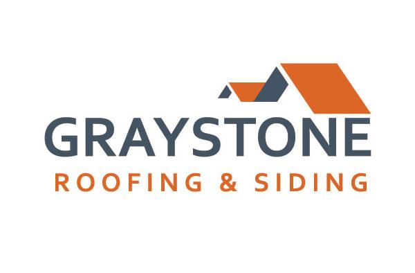 Graystone roofing siding lancaster logo design