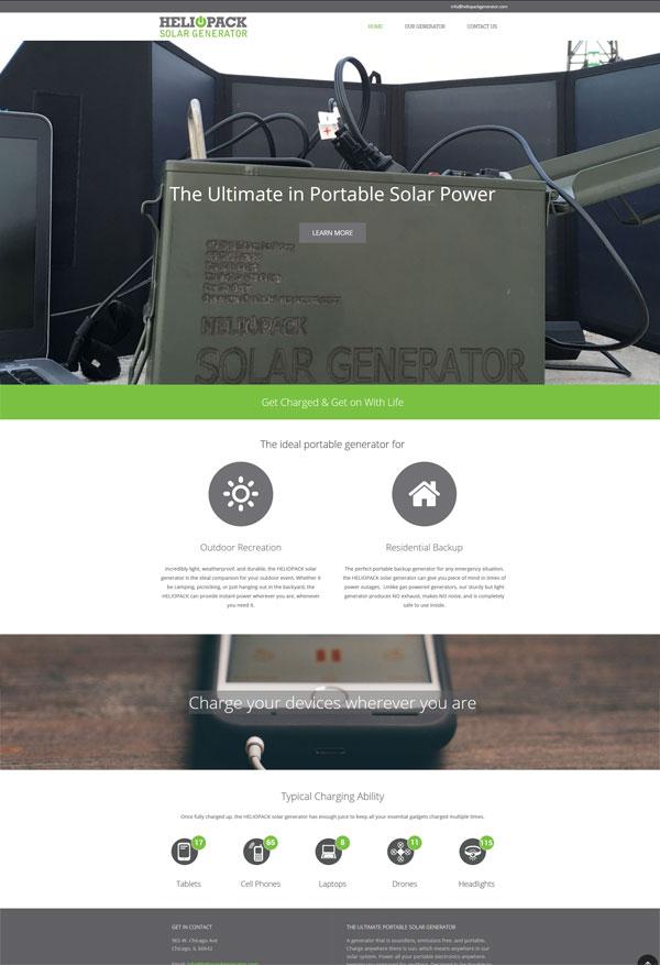heliopack solar generator website