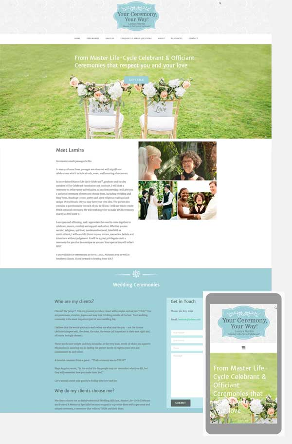 celebrant wordpress website