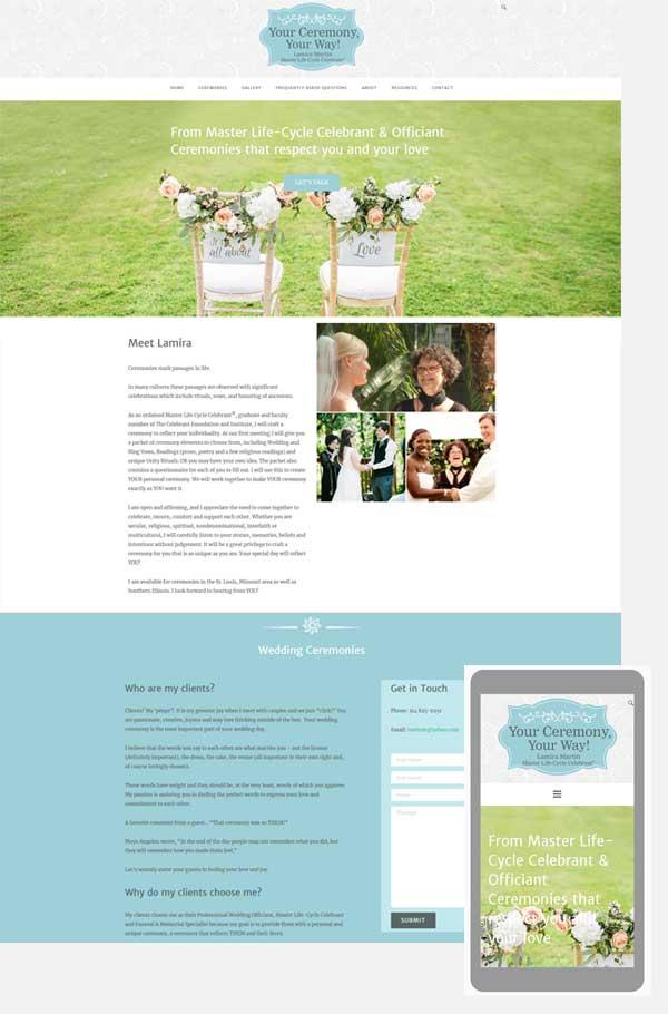 celebrant wordpress website