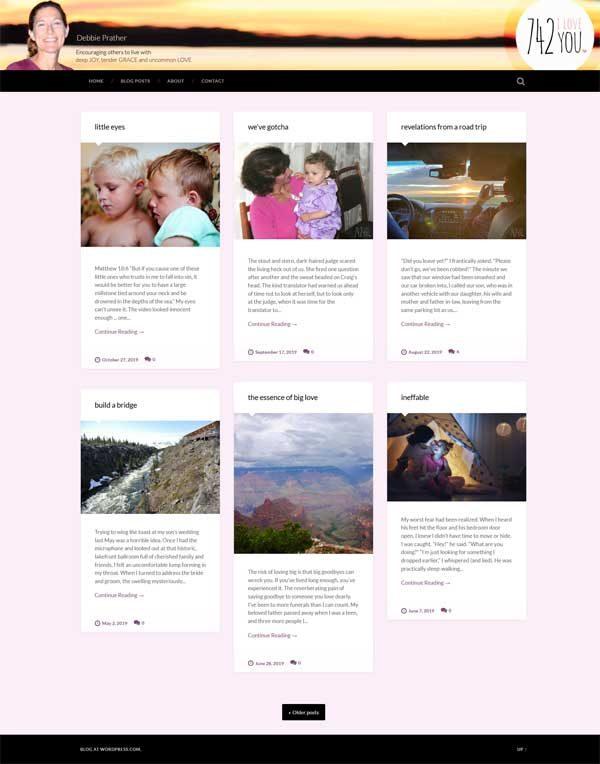 742iloveyou.com website redesign
