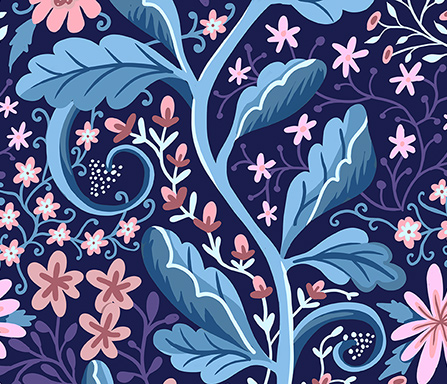 floral climber surface pattern design