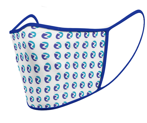 branded face mask with logo