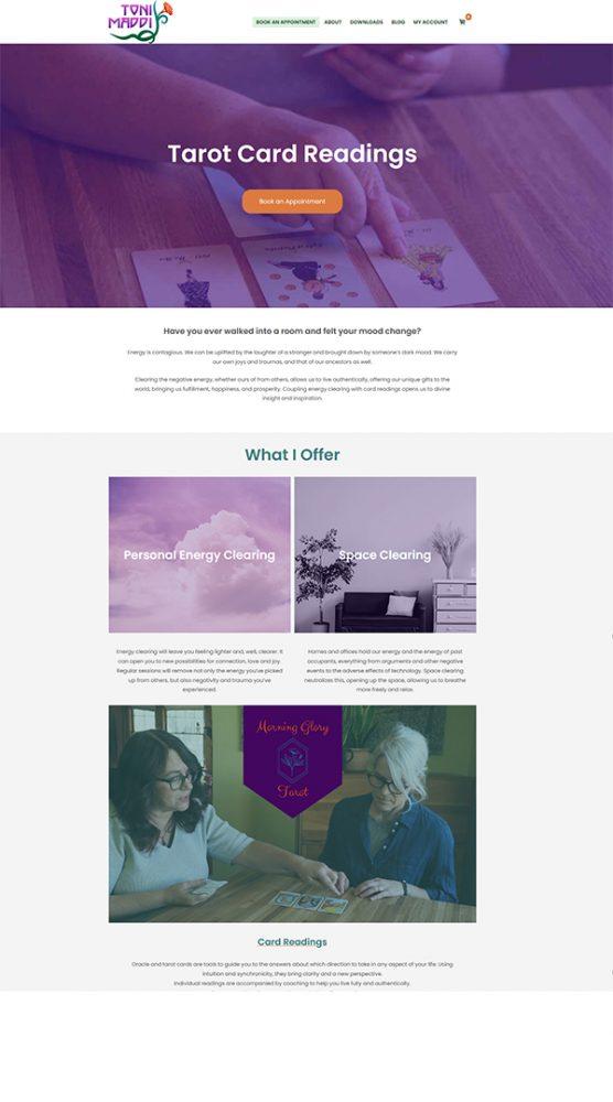 tarot card website toni maddi