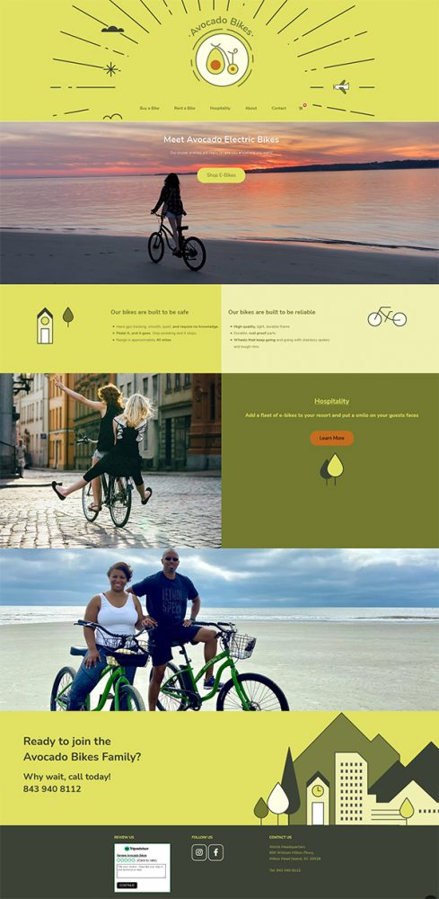 avocado bikes e commerce