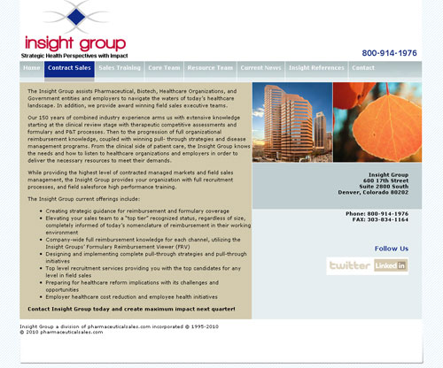 New website for insight group