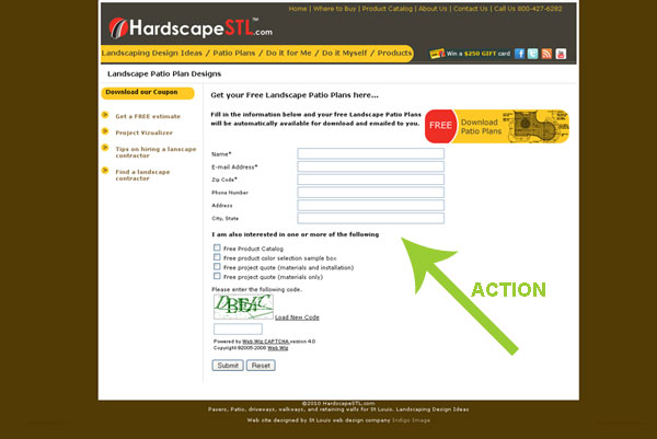 fill in form call to action