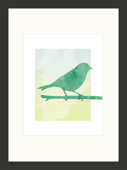 graphic design bird print