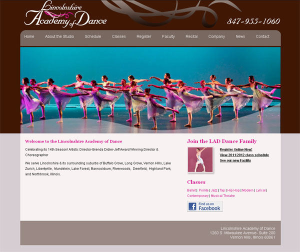 dance studio web site