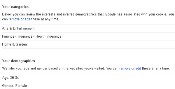 google ads optout