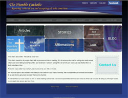 Humble catholic custom wordpress website