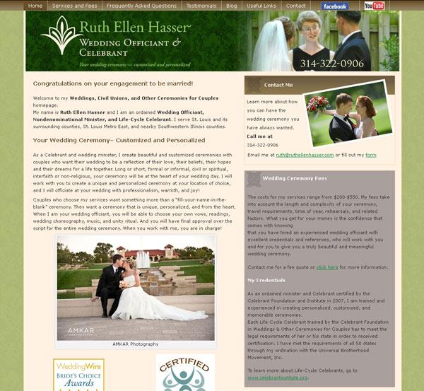 wedding celebrant web site