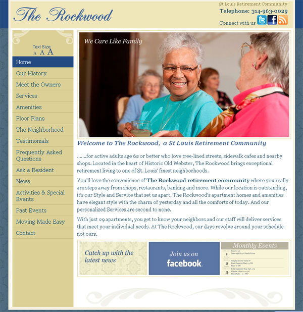 Rockwood st louis retirement community