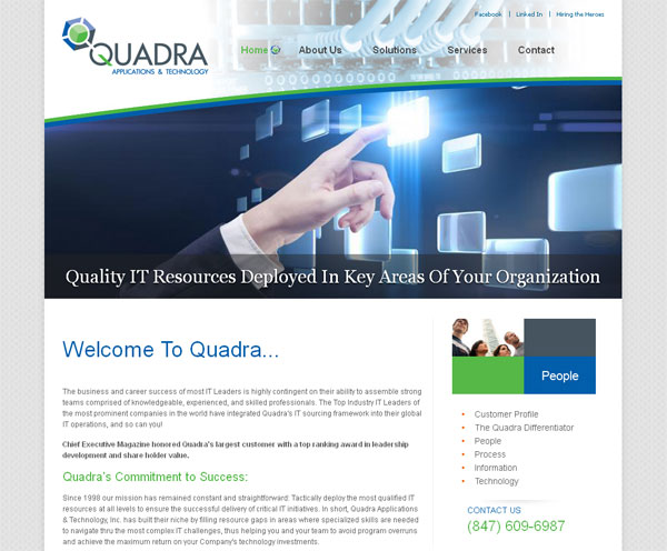 new quadra website