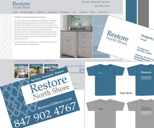 restore north shore chicago branding