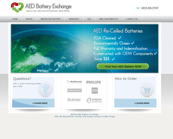 AED battery exchange