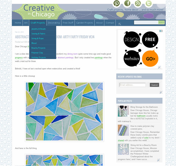 creative in chicago website navigation
