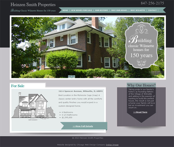 Responisive website design for Chicago home builder Indigo Image