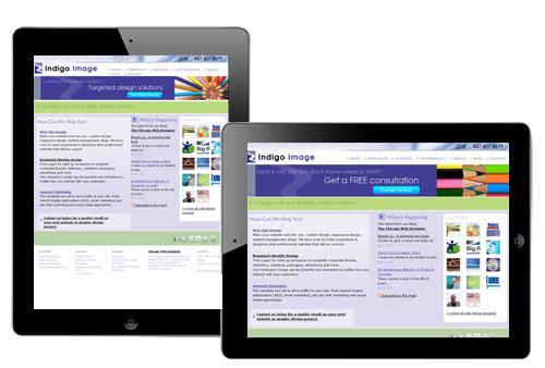 responsive web design on ipad