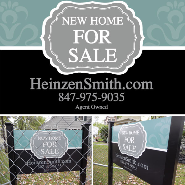 Chicago small business lawn sign design