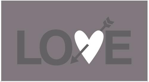 free valentine card gray
