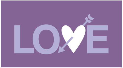 free valentine card purple