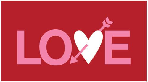 free valentine card red