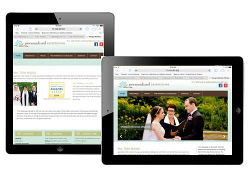 responsive design chicago wedding minister