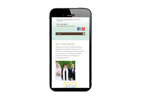 responsive design Chicago wedding minister