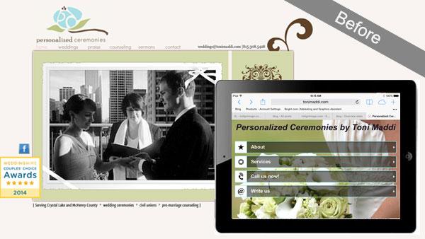 website wedding officiant chicago redeisgn
