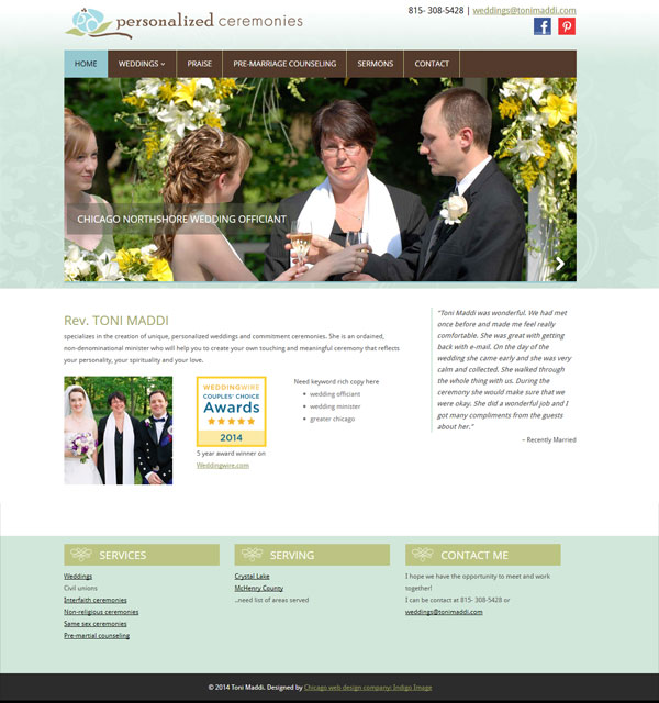 wedding officiant greater chicago web site