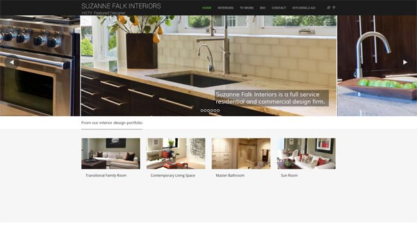wordpress website interior designer chicago