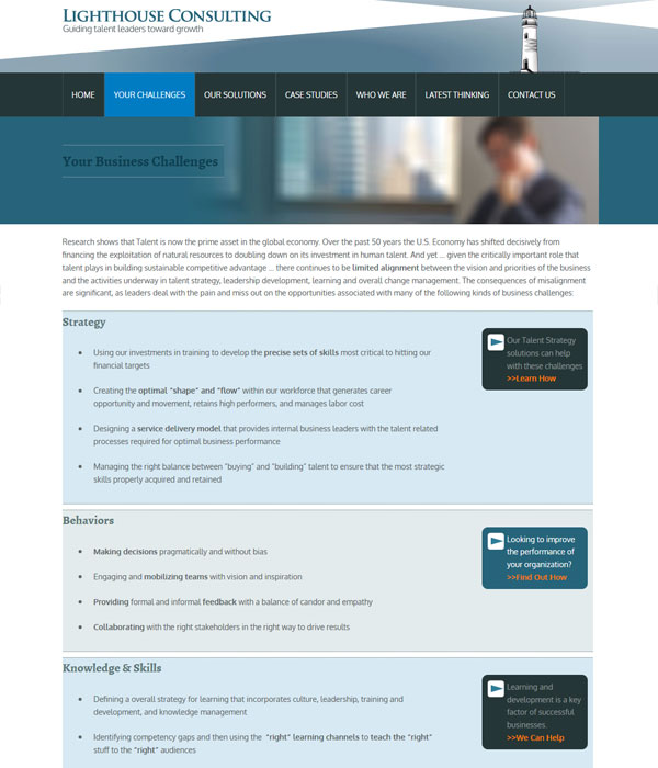 Lighthouse consulting: business challenges facing Chicago business owners