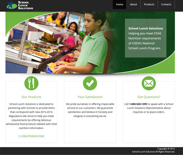 school lunch solution mobile freindly web site